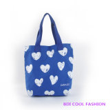 Heart Printed Canvas Bag (B14807)