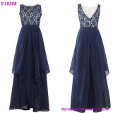 Sexy Black O-Neck Lace Evening Dresses Formal Dress Prom Party Dress