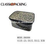 New Arrival Durable Costom Leopard Printed Waterproof PU Cosmetic Make up Bags