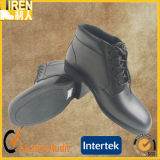 Black Genuine Cow Leather Cheap Hot Design Military Police Office Shoes