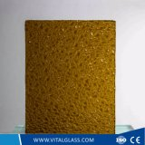 3-6mm Amber Diamond Patterned Glass with Ce&ISO9001