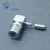 Male Plug Right Angle Crimp Qma Connector for Rg316 Cable