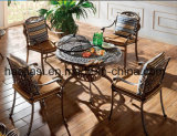 Outdoor /Rattan / Garden / Patio / Hotel Furniture Cast Aluminum Chair & Barbecue Table Set (HS3165C &HS 6122DT&HS 5003RC & ICE BUCKET)