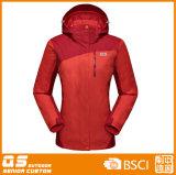 Women′s 3 in 1 Fashion Waterproof Warm Jacket