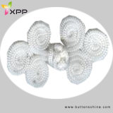 White Color Chinese Knot Button