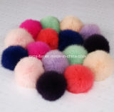 Dyed and Natural Rabbit Fur Poms for Garment