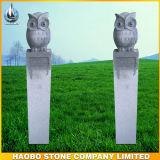 Stone Sculpture Night Owl Design Carvings Garden Decoration