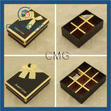 Chocolate Packaging Gift Paper Box with Silk Bow Knot (CMG-PCB-038)