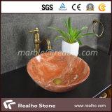 Red Marble Stone Single Bowl Vanity/Bathroom/Washroom/Hand Basin