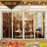 Double Glazing Decorative Aluminium Sliding Doors