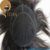 2016 Korea Popular Style Human Hair Lace Toupee for Men