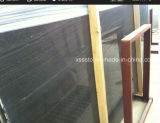 Chinese Wooden Black Marble Tiles and Slabs