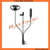 3-Wire D Shape Surveillance Earpiece for Two Way Radios (EM-320140)