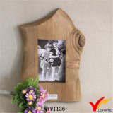 Natural Wood Decoration Paper Photo Frame Table Stand
