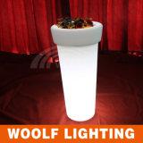 LED High Round Flower Pot