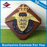 Custom Wooden Shield Bronze Engraving Award Wall Plaque