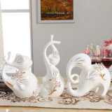 Craft Color Elephone Shape Porcelain Decoration Ceramic Crafts Art