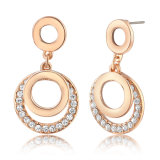 Two Circle Hoop Fashion Costume Metal Alloy Earring