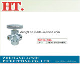 Chorme Plating Brass Forged 3-Way Male Angle Valve