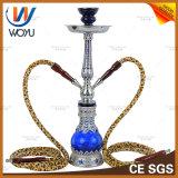 Double Pipes Shisha Dubai Al Fakher Clear Glass Hookah