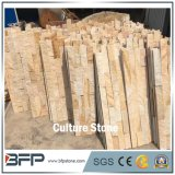Yellow Vein Natural Stone Veneer Ledge Culture Stone for Wall Cladding and Featured Wall