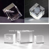 Custom Crystal Glass 3D Laser Etched Paperweight