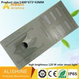 Hot Sales New Type 120W Solar LED Street Lighting with High Efficiency Solar Paenl
