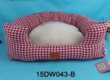 Design Soft Dog Cushion Grid Square Flocked Cotton Pet Beds