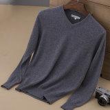 Elegant Men′s Merino Shirt Cashmere Sweater V Neck Pullover Sweater