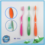 Transparent PP Handle with Tongue Cleaner Adult Toothbrush