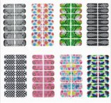 Fashionable Colorful Temporary Water Transfer Nail Sticker Art Sticker