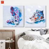 Watercolor Short Boots Cotton Canvas Painting for Decor