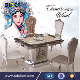 4 Seats Black Glass Top Rectangle Home Dining Table Set