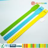 Adjustable silicone bracelet wristband with pocket for EMV Payment
