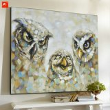 Cotton Canvas Wall Picture The Owl Family Oil Painting