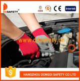 Ddsafety 2017 Foam Latex Coated Safety Gloves of String Knitted