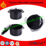 Kitchen Cookware Color Round Carbon Steel Enamel Soup Pot