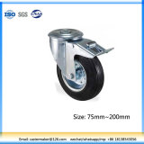 Round Hole Top Industry Caster with Double Brake