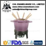 Wholesale Enameled Cast Iron Cheese Fondue Dippers with Forks