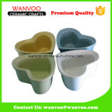 Personal Colorful Ceramic Kitchenware Cake Pan with Heart-Shape