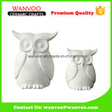 Self Coloring Ceramic Owl Statue for Holiday Decoration Gift