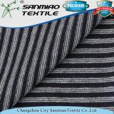 Indigo Striped Single Jersey Knit Denim Fabric