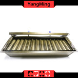 14 Row Round Chips Tray Two Layer with Lock Casino Poker Chip Case Float Ym-CT14