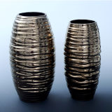 New Design Handmade Embossed Surface Ceramic Vase Pot