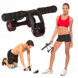 Abdominal Exercise 3 Wheels Ab Roller
