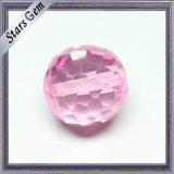 Pink Faceted Crystal Glass Ball Beads with Hole Drilled