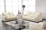White Color Leather Combination Office and Living Room Sofa Set