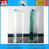 6.38-42.3mm French Green PVB Laminated Glass with AS/NZS2208