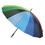 Auto Open Outside Rainbow Printing Straight Umbrella (JS-021)