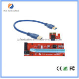 Ver007s PCI-E Express 1X to 16X Molex USB Riser Extender Adapter Card with 60cm